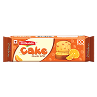 Britannia orange bar cake product