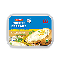 Britannia spread cheese roasted garlic product