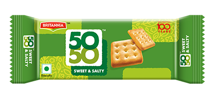 Britannia 50-50 Sweet salty biscuit