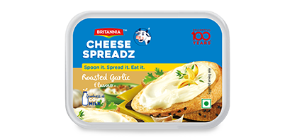 Britannia spread cheese roasted garlic