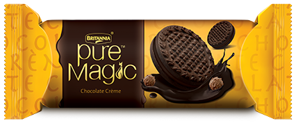 Britannia pure magic chocolate crème biscuit